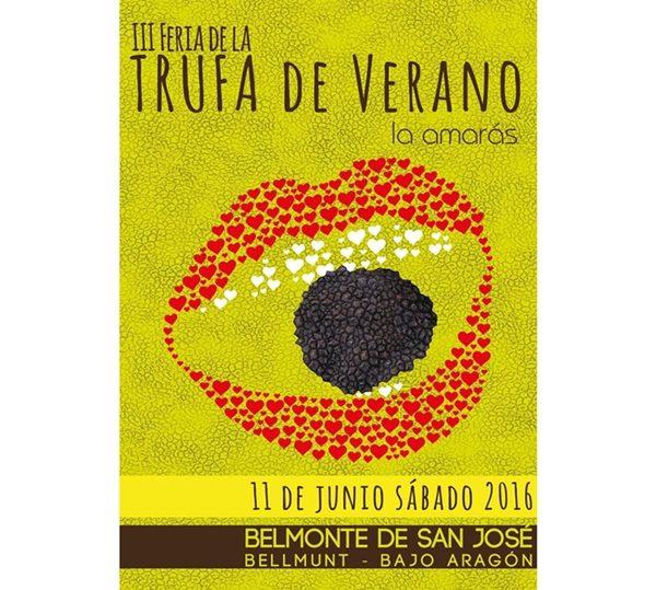 Cartel Trufa de Verano Belmonte de San José 2016